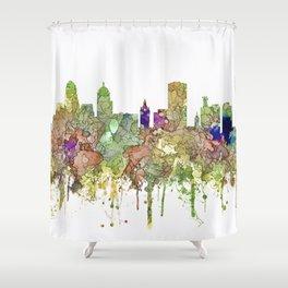 Buffalo, New York Skyline SG - Faded Glory Shower Curtain