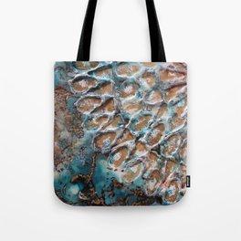 Turquoise peace Tote Bag