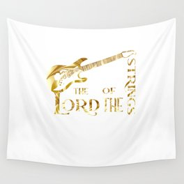 Electric Guitar Player Musician Quote Wall Tapestry