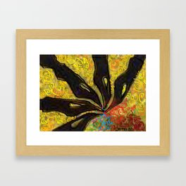 The Pen is mightier than the sword, so Shalom (Peace). Framed Art Print