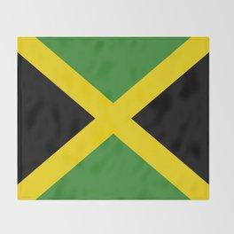 Flag of Jamaica-Jamaican,Bob Marley,Reggae,rastafari,weed,cannabis,ganja,america,south america,ragga Throw Blanket