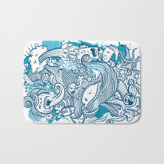 Random Doodle Bath Mat