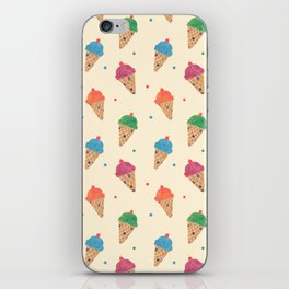 Fun Ice Cream Pattern iPhone Skin