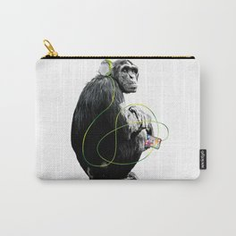 Monkey Listens to Music Carry-All Pouch