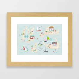 Summer On The Islands Framed Art Print