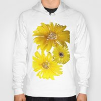 daisies Hoodies featuring Daisies by Regan's World