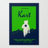 mario kart Canvas Prints featuring Kart by Samiel