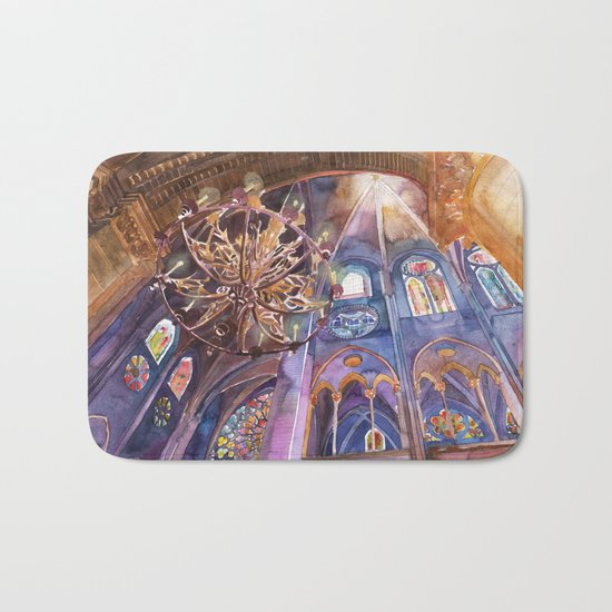 Notre Dame interior Bath Mat