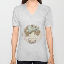 My fats thoughts (cactus print) Unisex V-Neck
