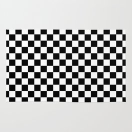Checker (Black & White Pattern) Rug