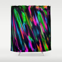 fireworks Shower Curtains featuring Fireworks by Patty Weiler