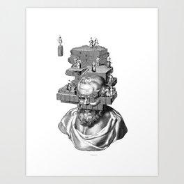 The solitude of wise Philosophers. Art Print