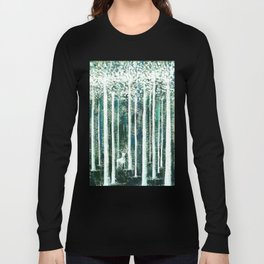 Christmas Stag in the jungle handpainted Long Sleeve T-shirt