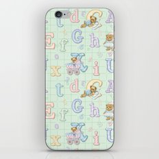 Teddy Bear Alphabet ABC's Green iPhone & iPod Skin