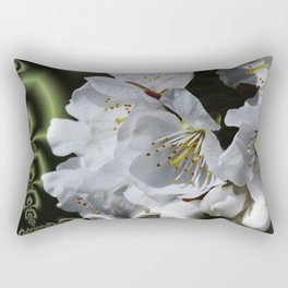 apple blossom pattern Rectangular Pillow