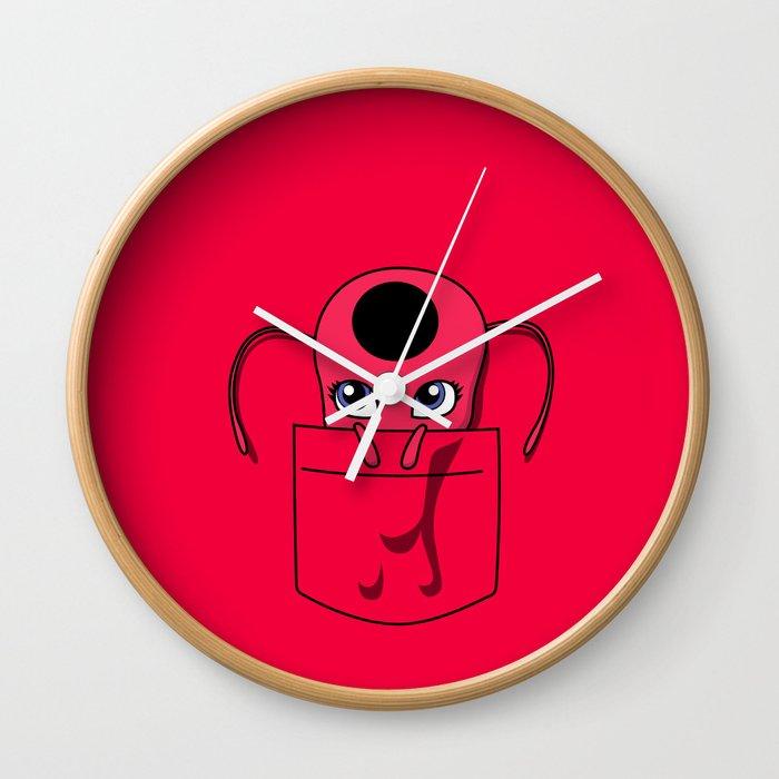 Tikki Pocket Tee Wall Clock