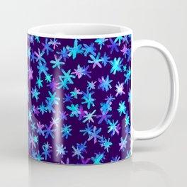Watercolor Christmas pattern with hand drawn snowflakes. Coffee Mug