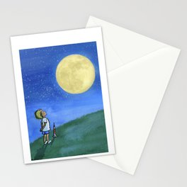 Little Boy and The Man in the Moon Stationery Cards