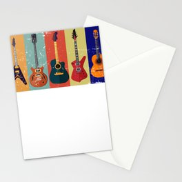 Bass Guitar Colorful Stationery Cards