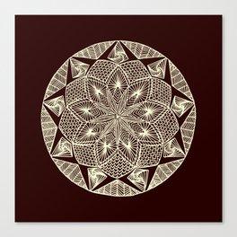 Maroon Mandala Canvas Print