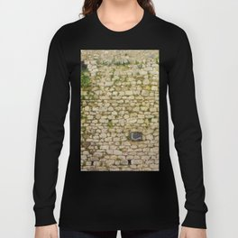 Old stone wall in St.Paul de Vence,France. Long Sleeve T-shirt