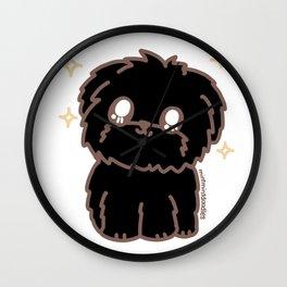 Puppy (black) Wall Clock