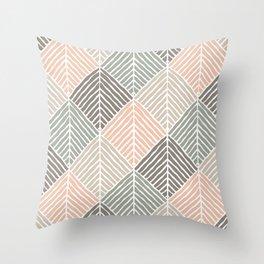 Boho Pattern in Natural Shades Throw Pillow