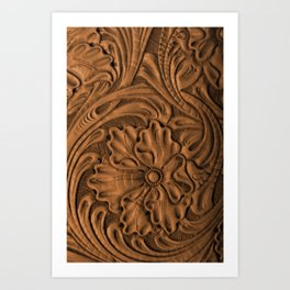 Golden Tanned Tooled Leather Kunstdrucke
