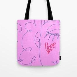 Love Me in Pink Tote Bag