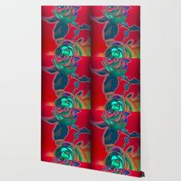 Neon roses Wallpaper