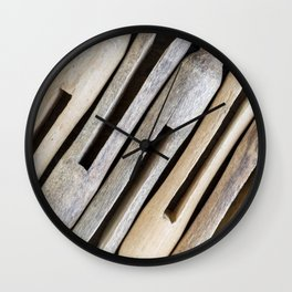 Wooden Clothespins 4 Wall Clock