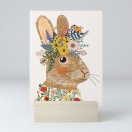 Foral Rabbit Mini Art Print