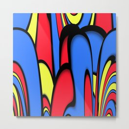 Comedy of Color Metal Print
