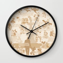 Love And Adventure In Animation Wall Clock