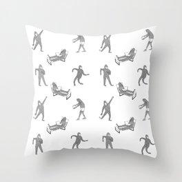 The Secret Life of Bigfoot Throw Pillow