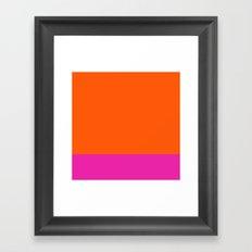Orange & Pretty in Pink Framed Art Print