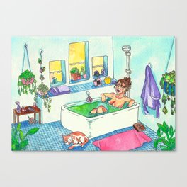 Witchy Relax Canvas Print