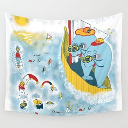 Look, honey!...the humans are migrating again!!! Wall Tapestry