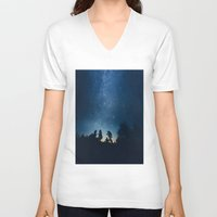 astronomy V-neck T-shirts featuring Follow the stars by HappyMelvin