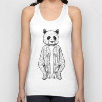 pandas Tank Tops featuring Pandas by Benson Koo