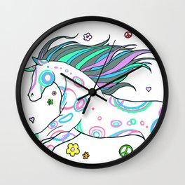 Hippie Horse Wall Clock