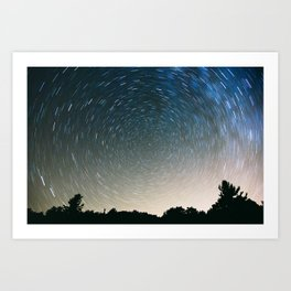 Star Trails Art Print