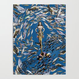 Mermaid in Monaco Poster