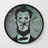 lincoln Wall Clocks featuring Lincoln by Doren Chapman