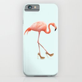 FANCY FLAMINGO iPhone Case