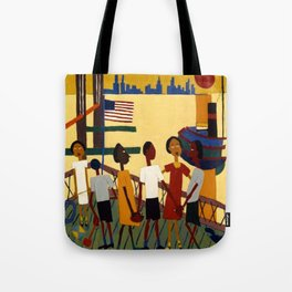 African American Masterpiece 'Ferry' NYC by William Johnson Tote Bag