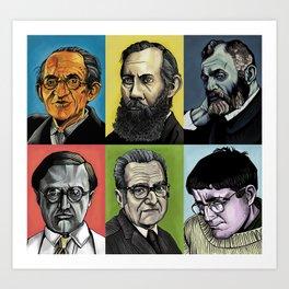 Philosophers Art Print