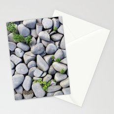 Sea Stones - Gray Rocks, Texture, Pattern Stationery Cards