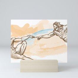 Creation of Adam watercolor hand drawn Mini Art Print