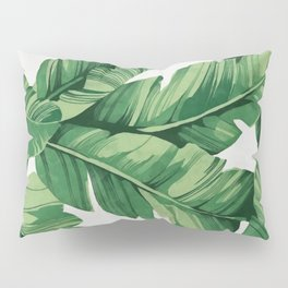 Tropical banana leaves Pillow Sham